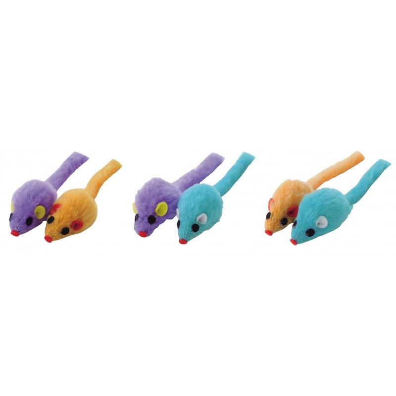Petio Toy Series - Little Mouse (Random Color) - 2pcs