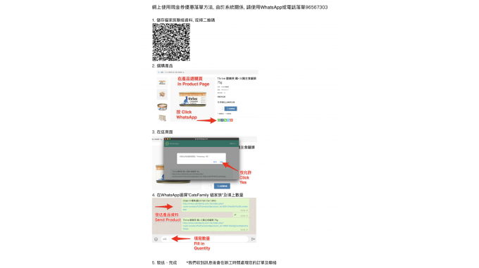 Online Use of Cash Coupons