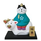 Decole Concombre - Doll Goods - Fuku Cats Series - Chinese Zodiac Decoration Ox Riding Cat