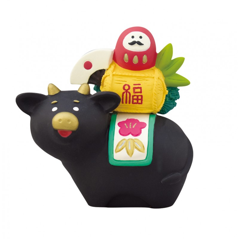 Decole Concombre - Doll Goods - Fuku Cats Series - Chinese Zodiac Decoration Ox Lucky Cow