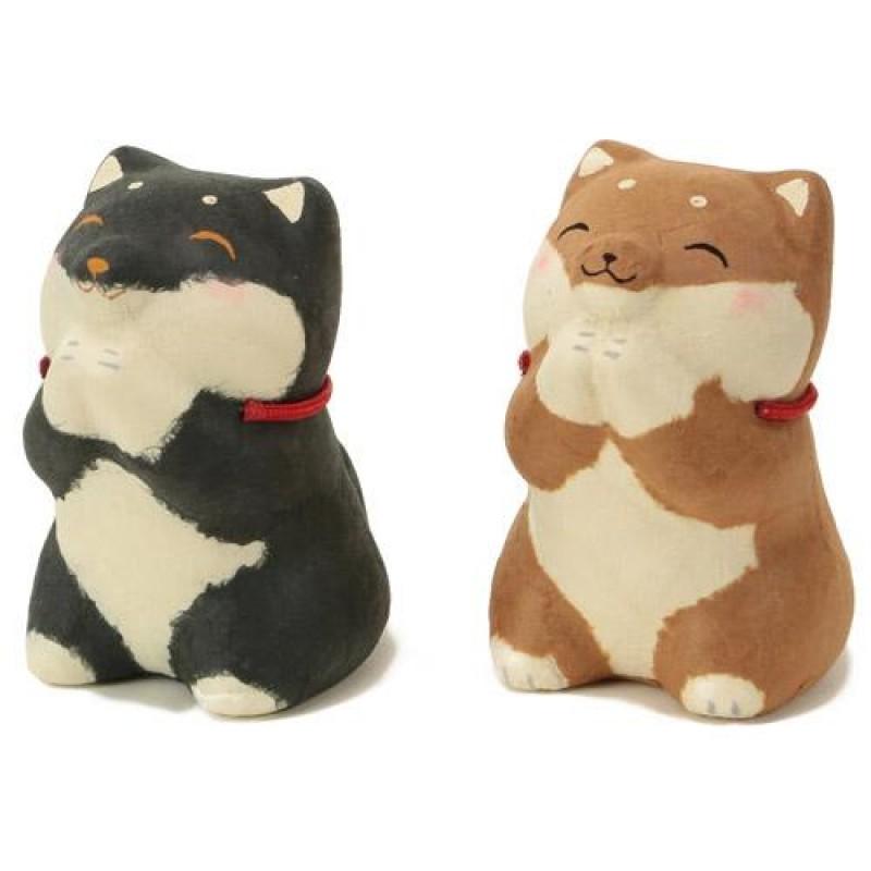 Jgoods - Dog Series - Shiba Begs for Food Japan Paper Decoration - Brown Shiba