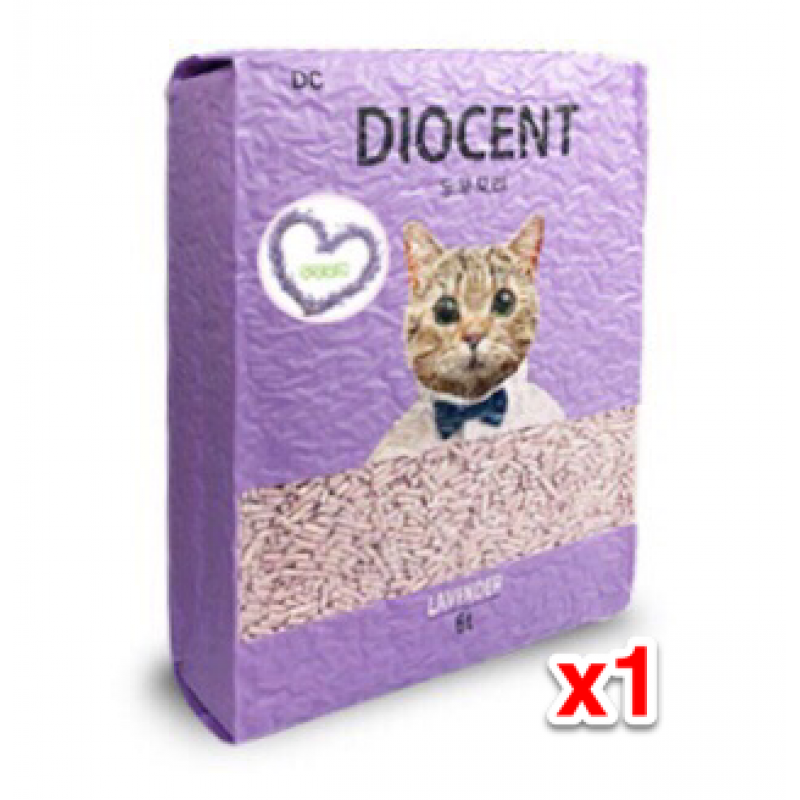 DIOCENT Korea Dried Lavender Flowers Tofu Cat Litter x1 Bag 6L Only one pack left