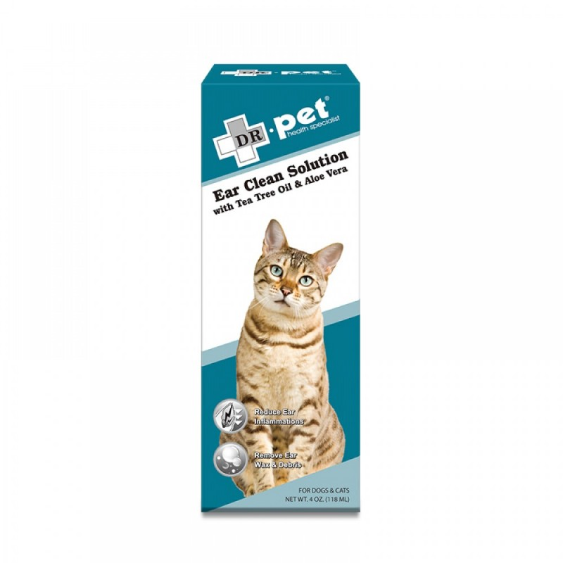Dr.Pet Ear Clean Solution with Tea Tree Oil and Aloe Vera 118ml