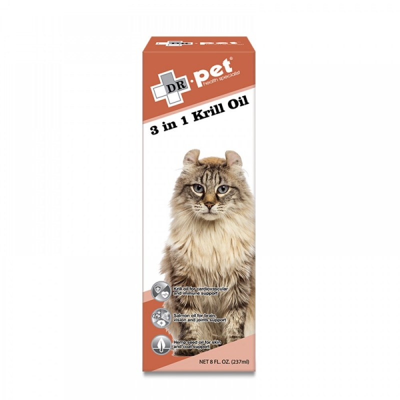 Dr.Pet 3 in 1 Krill Oil 237ml