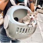 Moboli WE Shoulder Travel Cat Capsule - Light Blue
