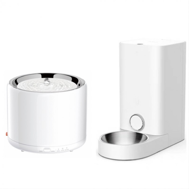 Petkit Fresh Element Mini Smart Feeder Stainless Steel Bowl + Eversweet 3 Smart Pet Stainless Steel Drinking Fountain [Premium Goods, One Year Maintenance] - Mini Smart Feeder  [Out of Stock] Estimated return in 09 of June. Please Pre-Order