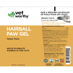 Vet Worthy Hairball Paw Gel - Salmon Flavour 3oz [Out of Stock]