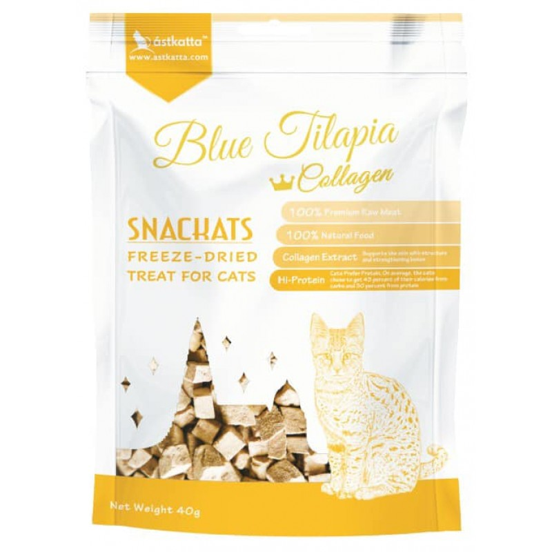 Astkatta Freeze-Dried Treats - Blue Tilapia + Collagen 40g