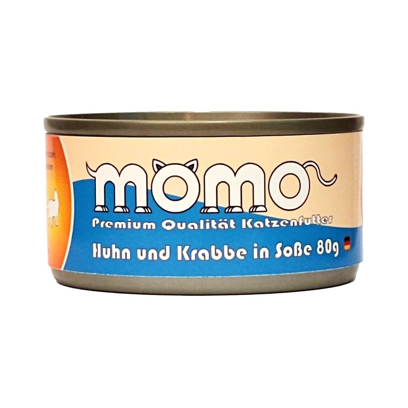 Momo German Brand Cat Can - Chicken and Crab in Gravy 80g