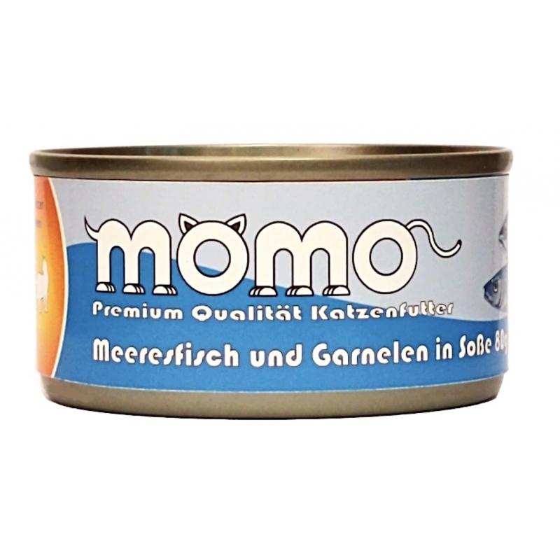 Momo German Brand Cat Can - Ocean Fish and Shrimp in Gravy 80g