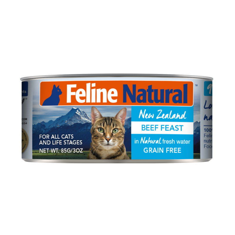 K9 Feline Naturals Main Food Canned - Beef Feast 85g