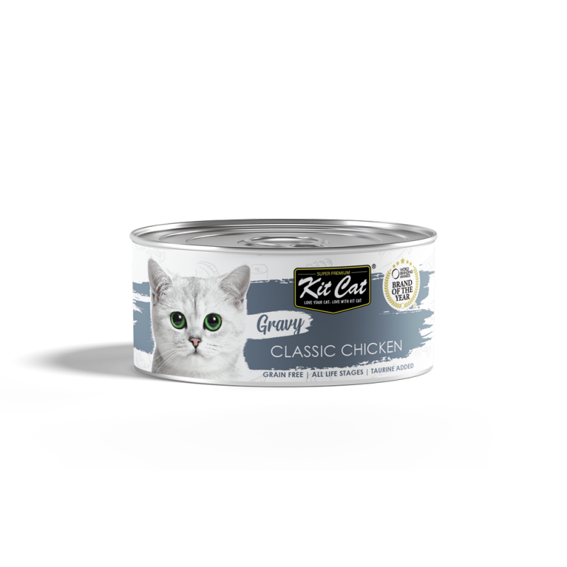 Kit Cat - Gravy Canned Food  - Classic Chicken 70g