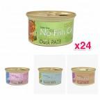 Pet Say - No Fish Cat Cats Can - 24 Cans Discount Set (Choice Mixed Taste) 85g x24 pcs /$11.00/pc=$264