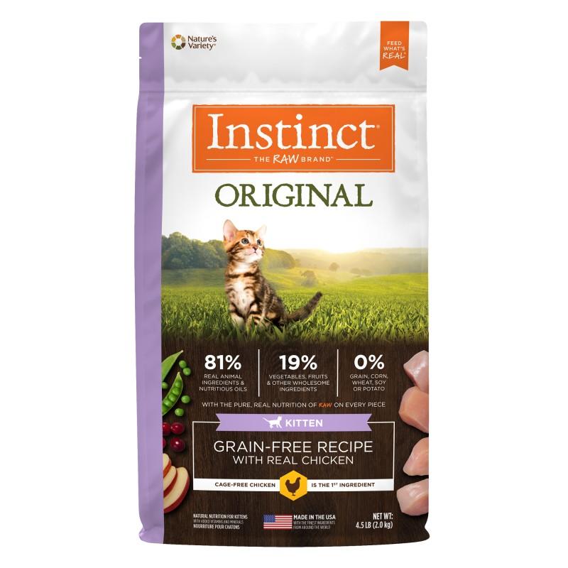 Instinct 本能 Original Grain- Free Recipe with Real Chicken - Kitten 4.5lb