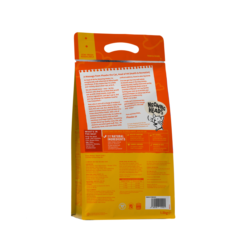 Meowing Heads Paw Lickin' Chicken Fish 1.5kg