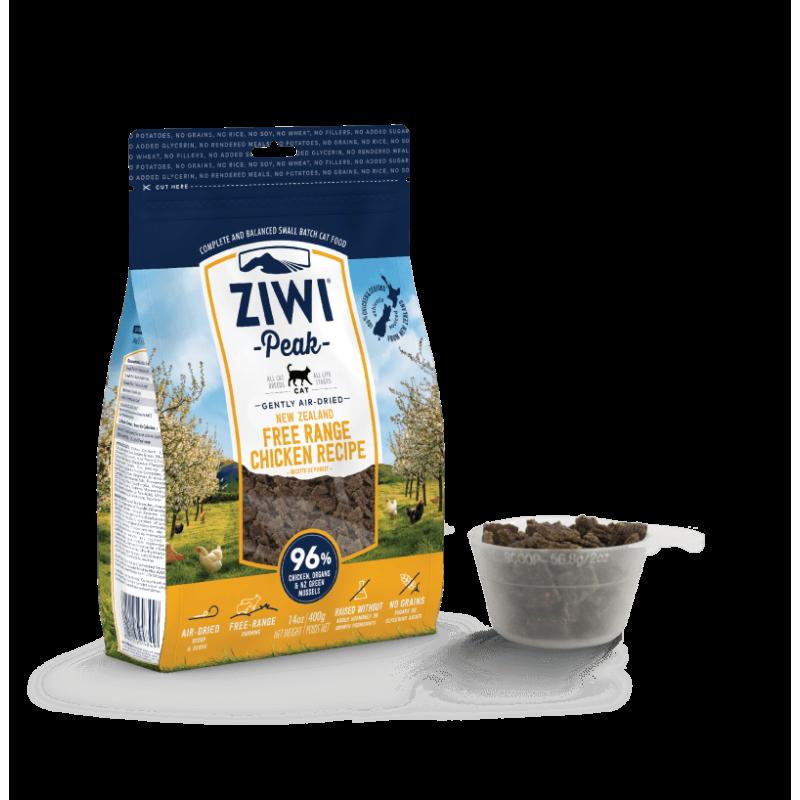 Ziwi Peak Air Dried Natural Cat Food Free Range Chicken Recipe 400g